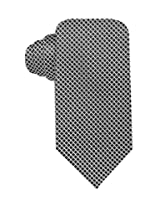Geoffrey Beene Mini-Grid Tie, Black/Silver, OS