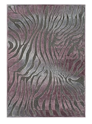 Kenya Rug, Gray/Purple, 5' 2