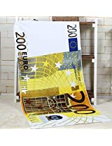 70x140cm Absorbent Microfiber Beach Towels Creative Design Print Quick Dry Bath Towel(Pattern: 200 Euro)