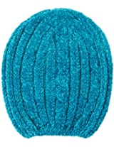 Isotoner Solid Chenille Cable Rib Hat TEAL