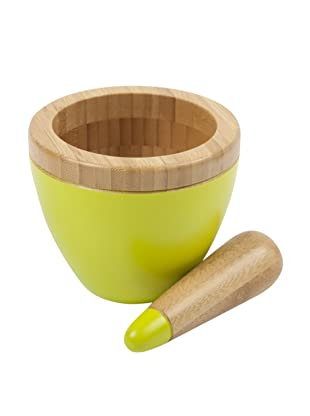 Core Bamboo Modern Mortar and Pestle (Lime)