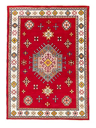 eCarpet Gallery One-of-a-Kind Hand-Knotted Royal Kazak Rug, Cream/Red, 5' 9
