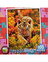 Puzzle Bug 100 Piece Puzzle ~ Curious Tiger Cub