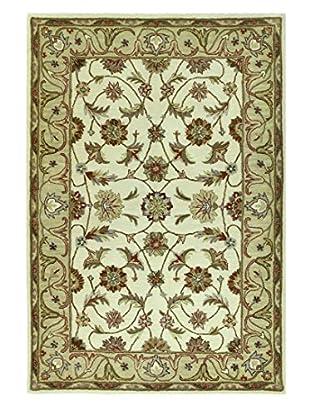Bashian Rugs Wool Tufted Rug, Ivory, 5' x 7' 6