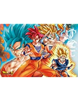 Ensky Dragon Ball Super Goku All Forms Art Crystal Jigsaw Puzzle (300 Piece)