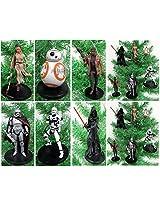 Star Wars Force Awakens 6 Piece Christmas Tree Ornament Set Featuring Kylo Ren, Bb 8, Captain Phasma, Finn, Rey And Flametrooper