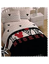 Disney Mickey Mouse Love Twin Bed-in-Bag Bedding Set