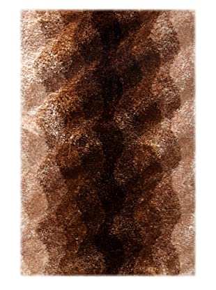 Manhattan Design District Wool Blend Luxury Shag (Brown Multi)