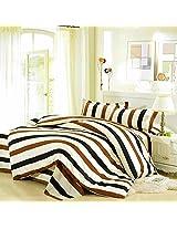 3 Or 4pcs Stripe Dot Cotton Blend Paint Printing Bedding Set Full Size