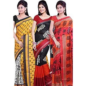 Combo Of 3 Multicolor Printed Saree Ishin
