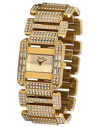 D&G DW0220 - Reloj de Señora movimiento de cuarzo con brazalete metálico dorado