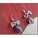 [E17B_004] Purple Bow Earrings 03