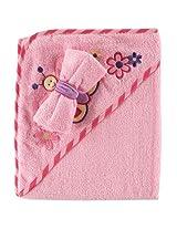 Luvable Friends Fancy Hooded Bath Wrap, Pink