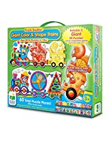 The Learning Journey Puzzle Doubles, Giant Colors and Shapes Train Floor Puzzles