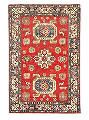 eCarpet Gallery One-of-a-Kind Hand-Knotted Gazni Rug, Red, 4' 2
