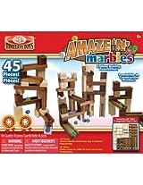 Ideal Amaze 'N' Marbles Classic Wood 45-Piece Construction Set