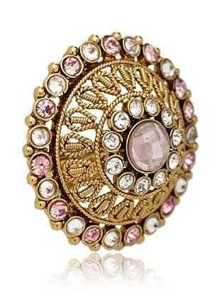 Rosena Sammi Gold & Pink Dome Ring