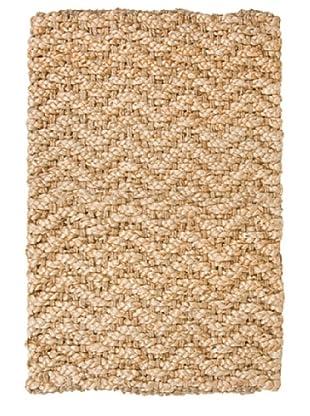 Classic Home Herringbone Hand-Spun Jute Rug (Gold)