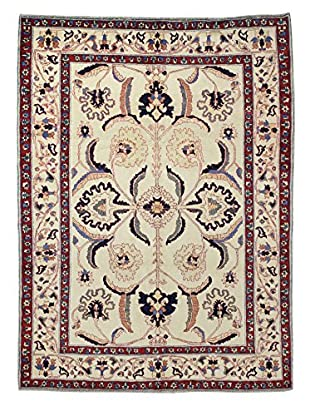 Bashian Rugs Hand Knotted One-of-a-Kind Mansehra Rug, Ivory, 5' 4