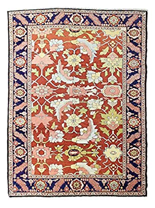 Bashian Rugs Hand Knotted One-of-a-Kind Herez Rug, Rust, 7' 1