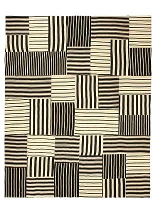 Flatweave Mono Stripes, 6' x 9'