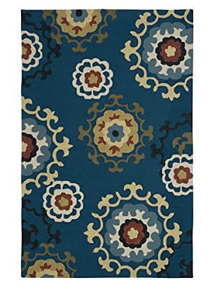 LR Resources Enchant Blue Rug, Blue, 5' x 7' 9