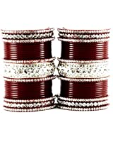 Vidhya Kangan Personalize Acrylic Rhinestone Embedded Bangle Set for Women - Maroon 2.1