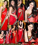 Kareena Kapoor Bollywood Style Red Saree - 1308