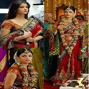 AISHWARYA RAI IN RED DESIGNER SAREE AT MOVIE ROBOT