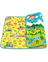 Catterpillar 100% Waterproof, Double Sided Baby Play & Crawl Mat (Large- 6'X4'feet)