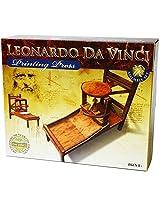 Elenco Leonardo Da Vinci Historic Printing Press Assemble Set Toy Model With Reusable Toy Tote Bag