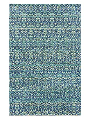 Hand-Knotted Authentic Ushak Rug, Navy, 5' 10