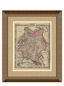 """Johnson and Ward Antique Map of Russia, 1860's, 24"""" x 26"""""""