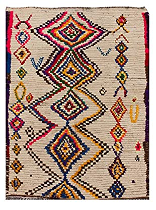 nuLOOM One-of-a-Kind Hand-Knotted Hafida Berber Rug, Natural, 4' 11