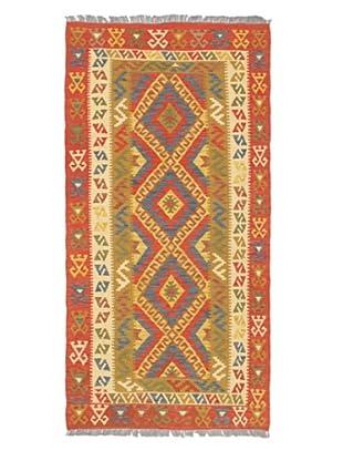 Hand Woven Anatolian Wool Kilim, Dark Copper, 3' 5