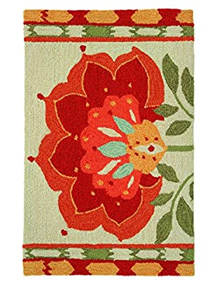 Homefires Rugs Ikat Bloom, Red, 22
