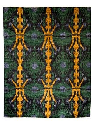Darya Rugs Ikat Oriental Rug, Yellow, 7' 10