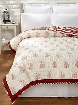 Suchiras Red Paisley Quilt (Red)