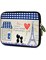 Amzer 7.0 - 7.75 Inches Designer Neoprene Sleeve Case for iPad/Tablet/e-Reader and Notebooks, Parisian Date (AMZ5222077)