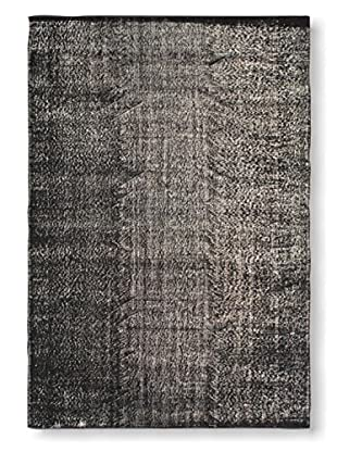 Oak Rugs Hand-Knotted Color Transition Wool Rug, Black, 5' 11
