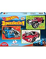 Frank Hot Wheels 3 in 1 Puzzle, Multi Color
