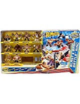 WWE Wrestling Rumblers Exclusive Blast & Bash Battle Ring with 10 Mini Figures & 5 Accessories