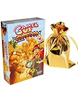 Super Cup Expansion Requires Camel Up Game Bonus Gold Metallic Cloth Drawstring Storage Pouch.