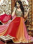 Orange & Red Anarkali Salwar Suit-LFSUBELA8111