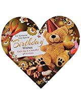 Signature Special Birthday Wishes Greeting Card with Envelope, 28 x 26 cms
