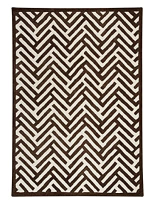 MAT the Basics Portland Hand-Tufted & Carved Rug (Brown)