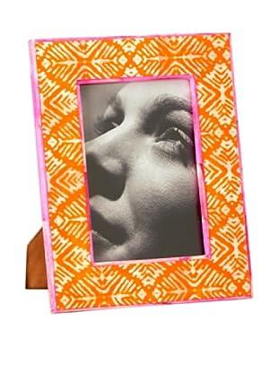 Shiraleah Painted Bone Picture Frame (Orange)