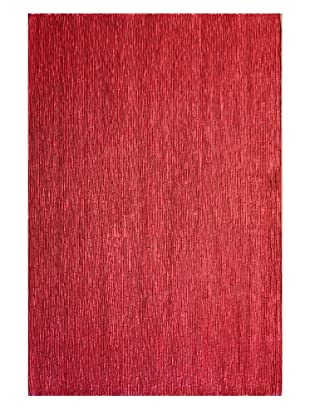 Dreamweavers Faux Leather Rug (Red)