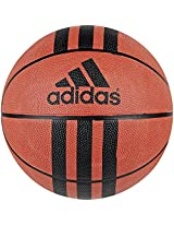 Adidas 3 Stripe D 29.5 Rubber Basketball, Size 7 (Red)
