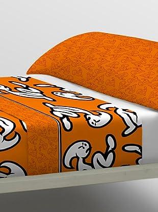 El Niño Juego de Sábanas Logo (Naranja)